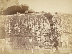 Arjuna's Penance, rock-cut sculptures, Mamallapuram.